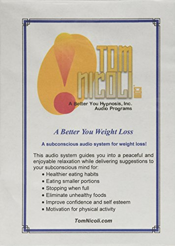 Tom Nicoli Weight Loss CD Set - Hypnosis for Weight Loss Diet Program As Seen in Shape Magazine