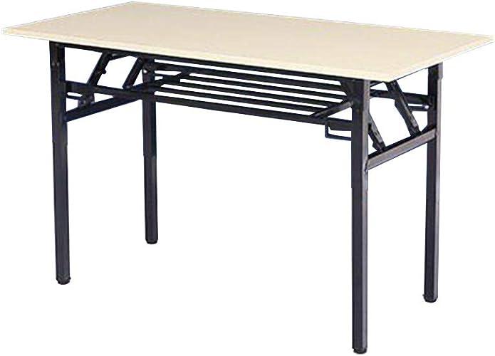 QZ HOME Table Pliante Table Droite Table De Décrochage Capacité De Charge De 200 Kg en Acier (Taille   60  120  75CM)