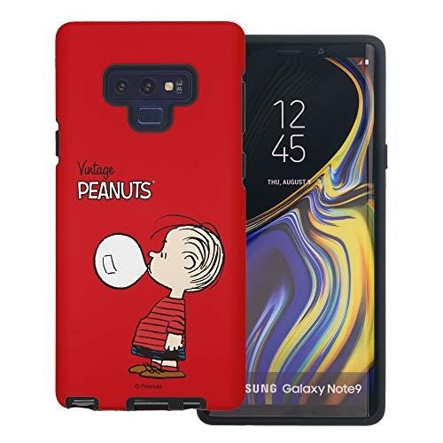 Galaxy Note9 ケース と互換性があります Peanuts Linus Van Pelt ピーナッツ ライナス ヴァン ペルト ダブル バンパー ケース デュアルレイヤー 【 ギャラクシー ノート9 ケース 】 (シンプル ライナス) [並行輸入