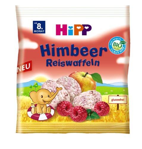 Hipp biologische frambozenrijstwafels, doos van 7 (7 x 30 g)