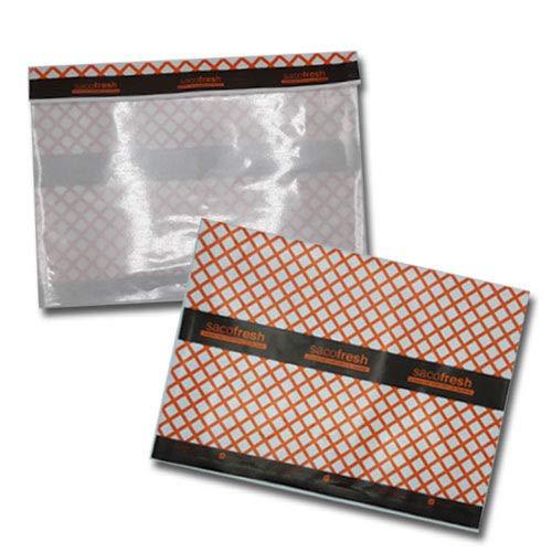Bolsa Sobre 360x300mm Sacofresh Roja Papel Parafinado con Ventana Transparente 1000 Unidades