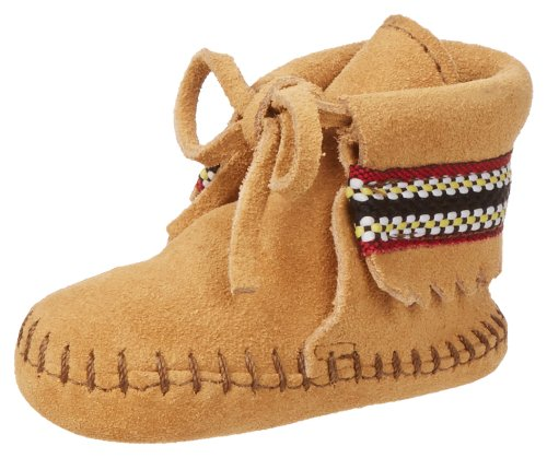 Minnetonka Braid Bootie (Infant/Toddler),Tan,3 M US Infant