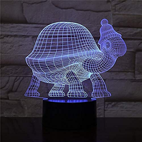 3D Illusion Night Light bluetooth smart Control 7&16M Color Mobile App Led Vision animal turtle sensor decorative children kids baby kit turtle shop table birthday