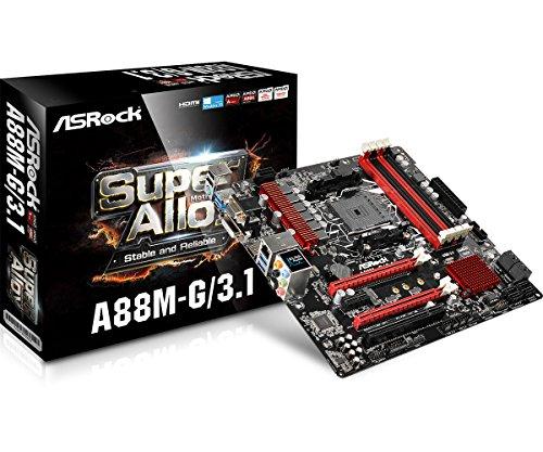 ASRock 90-MXB100-A0UAYZ Motherboard Micro ATX DDR3 2400 NA A88M-G/3.1