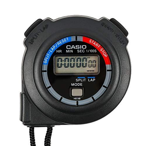 CASIO(カシオ) ストップウォッチ ラップタイム スプリット 計測 消音 ブラック HS-3C-8AJH