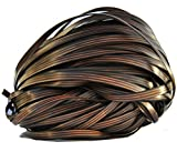 Baufooer Rattan Material for Patio Furniture DIY and Repair, Graden Outdoor Vine Light Brown Flat High-Strength Durable All-Weather Plastic Wicker for Rattan Production and Restoration-8.82 oz