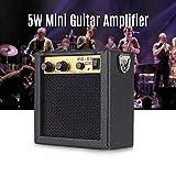 Fesjoy mini ampli guitare En bois Mini Amplificateur de guitare Ampli Haut-parleur 5W avec entrée 6.35mm