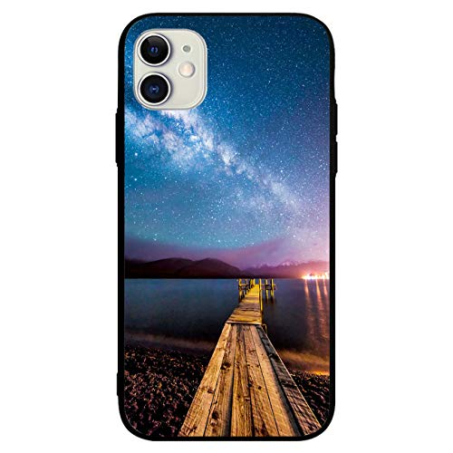 Designed Case for iPhone 11 Milkyway with Wooden Jetty Soft TPU Cover Shockproof Resistant Cellphone Cases Protection Protective Phone Cover