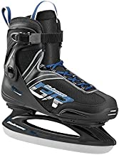 Bladerunner Ice by Rollerblade Zephyr Men's Adult Ice Skates, Black and Blue, Recreational, Ice Skates, US Size 9