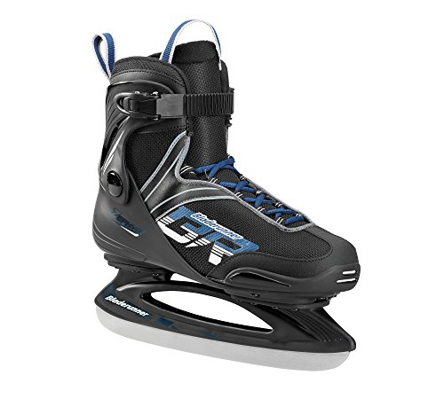Bladerunner Ice by Rollerblade Zephyr Men's Adult Ice Skates, Black and Blue, Recreational, Ice...