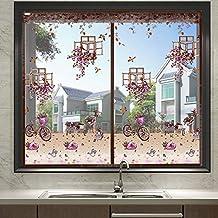 Halfopen bruin DIY zelfklevend raamscherm, anti-vliegenmuggen-insectengordijn, met magneten voor raam volledig frame (110x...