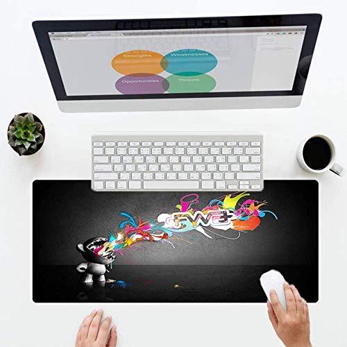 Muis Pad Karakter Ontwerp Muis Pad Rubber Home Office Bureau Toetsenbord Game Muis Pad voor Half Leven 40 * 90cm