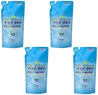 【まとめ買い】セスキ炭酸ソーダ+電解水クリーナー 詰替360ml (4個)