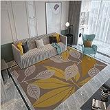 Alfombra de área, moderna alfombra rectangular grande para dormitorio sala de estar ramas y hojas de impresión 80 x 120 cm (2 pies 7 'x3 pies 11')