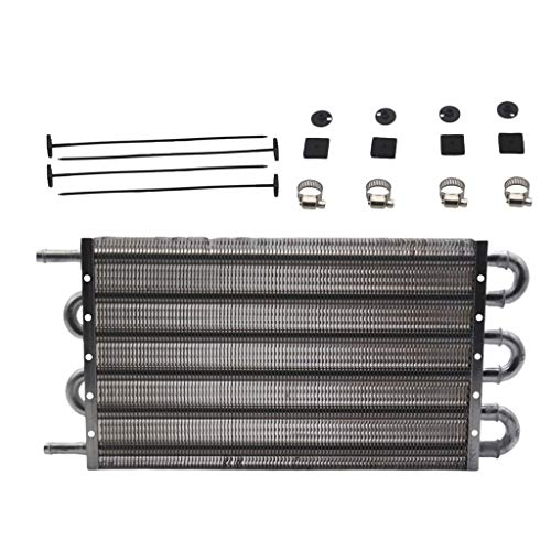 H HILABEE Enfriador de Aceite de Transmisión Remota de Aluminio de 6 Filas, Equipo de Radiador Automático/Manual
