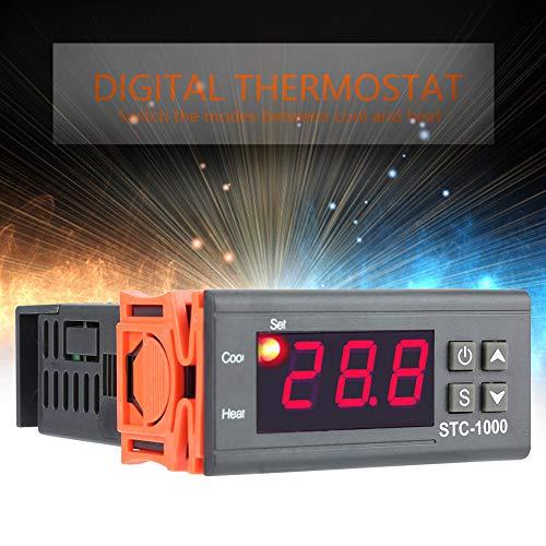 Praktischer Thermostat, Thermostatsensor, 110-220 V elektrisches Digital zur Temperaturüberwachung Hühnerinkubator Aquarium Terrarien Temperaturregelung Zoo