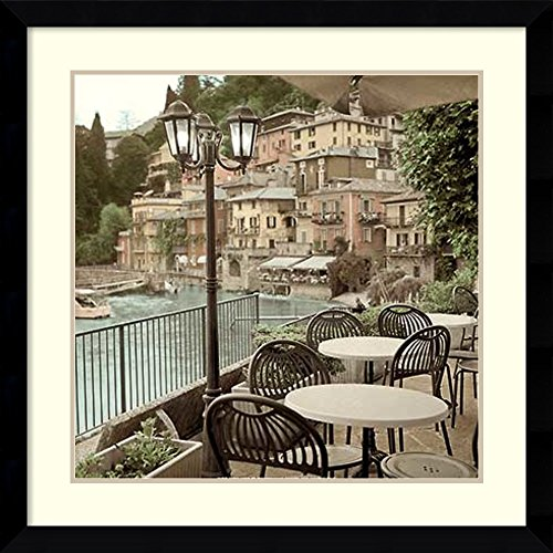 Framed Wall Art Print Porto Caffe, Italy by Alan Blaustein 32.38 x 32.38 in.