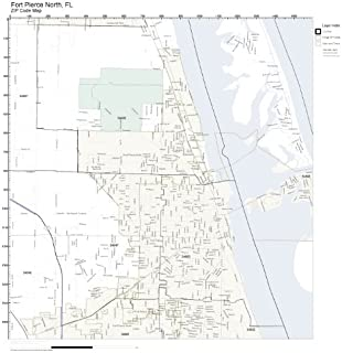 ZIP Code Wall Map of Fort Pierce North, FL ZIP Code Map Not Laminated
