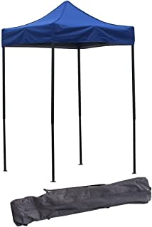 American Phoenix Canopy Tent 5x5 feet Party Tent Gazebo Canopy Commercial Fair Shelter Car Shelter Wedding Party Easy Pop Up (Blue)