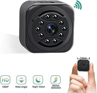 Cámara Espía WiFi UYIKOO Cámara Espia Oculta 140° Gran Angular Cámara Oculta 1080P HD para Vigilancia Interior/Exterior con Visión Nocturna y Detección de Movimiento