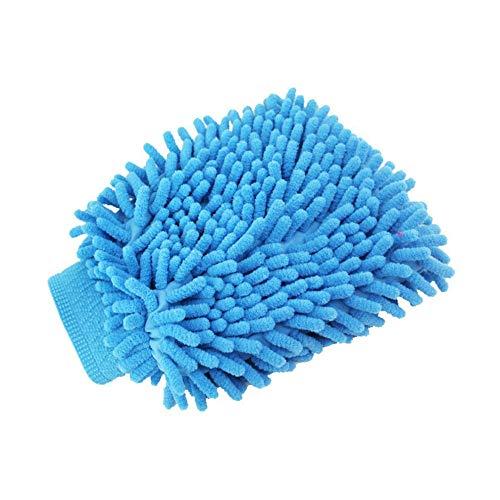 UWOOD Auto-Waschhandschuh, Mikrofaser-Reinigungshandschuhe, weiche Haushaltshandschuhe, Mikrofaser, 2 Stück (blau)