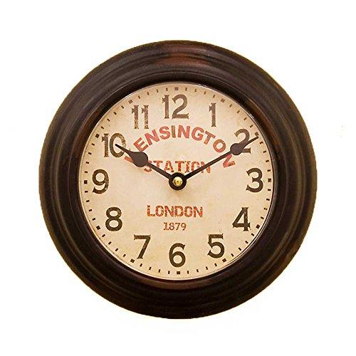 プレステージ ウォールクロック/ケンシントンステーション ブラック/ラウンド 壁掛け時計 アンティーク時計