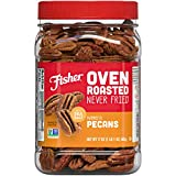 Contains 17 ounces of oven roasted mammoth pecans Only the good stuff. Never fried. Nothing to hide No artificial ingredients or preservatives. Non-GMO Project Verified No oils added 17 oz reclosable canister is perfect for snacking, storing, and tak...
