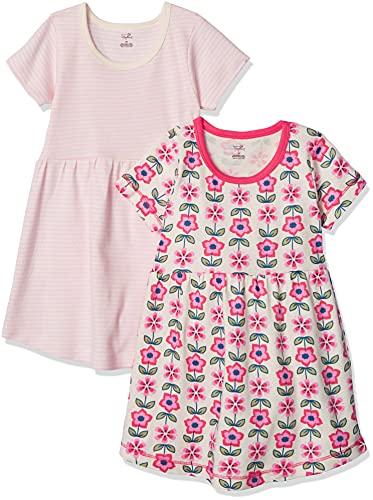 Touched by Nature - Vestido de manga corta para niña de algodón orgánico., Vestidos de manga corta de algodón orgánico