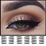 Plantilla de sombra de ojos, 40 Uds, Palillo de línea de párpados, pegatinas de delineador de ojos reutilizables, maquillaje de ojos de gato, pegatina de párpado doble (Negro)