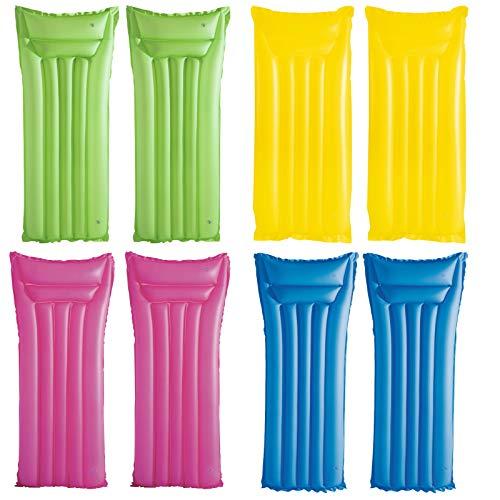 2 Stück Luftmatratze Wasser Luft Matratze aufblasbar mit 2 Kammern und Sicherheitsventil Wasserliege Erwachsene Luftbett Pool Luft Matraze Wasserspielzeug