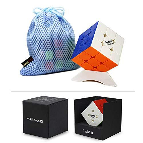 OJIN VALK 3 Potenza M Valk3 Power M Magic Cubo 3x3x3 Smooth Magic Puzzle Cube con Un treppiede cubo e Una Borsa cubo (Stickerless)