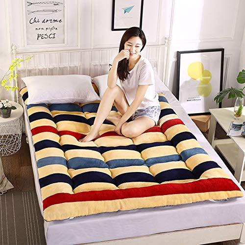 CIHXG Opvouwbare draagbare futon-matras, dikke stereoscopische tatami-vloermat, Japans ontlast rugpijn, topper, hotelmatras, A, 150 x 200 cm
