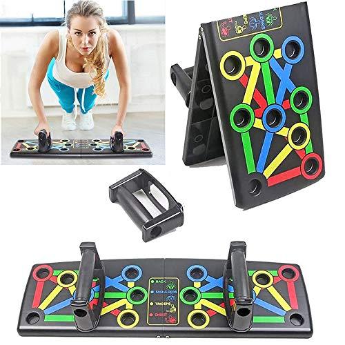 GRX-ZNLJT Push Up Board System, 14 in 1 Body Building Fitness Trainingsgereedschap mannen vrouwen Workout Push-up staan voor Gym Body Training Push Up Rack Board System