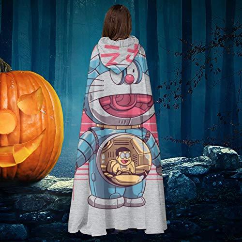 NULLYTG Doraemon Dorae Bot Unisex Navidad Halloween Bruja Caballo con capucha Vampiros...