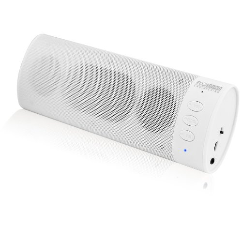 ECO Sound Engineering ECO-V800-12375 Bluetooth Stereo Speaker with Mic - Retail Packaging - White