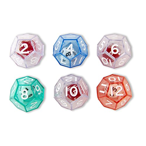 Koplow Games 12-Sided Double Dice Set Classroom Accessories