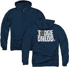 Trevco Judge Dredd Logo Unisex Adult Zipper Hoodie, Back Print