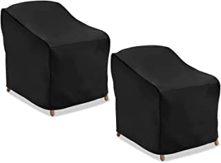 NASUM Patio Seat Cover, 2 Pcs Lounge Deep Chair Cover, 38'' Lx31'' Wx29'' H, 600D Durable and Waterproof Outdoor Furniture...
