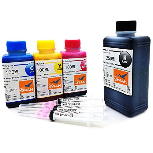 550ml Nachfülltinte (BK 250ml ,C /M /Y je100ml) kompatibel für Druckerpatronen HP 304 HP 304XL Refillset