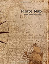 Pirate Map Pirate Themed Sketchbook: Cute Pirate Happy Birthday Gift for Boys, Sketchbook, Diary with Blank Pages for Doodling, Drawing & Sketching