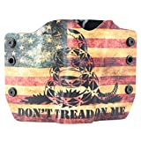Don't Tread On Me Tan Snake Flag OWB Holster (Right-Hand, SCCY CPX 1,2)