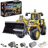 BIANGEY T4002 Building Block Bulldozer, versión dinámica del Kit de ensamblaje del Modelo de Bloque de construcción de vehículos de ingeniería eléctrica, Compatible con la tecnología Lego