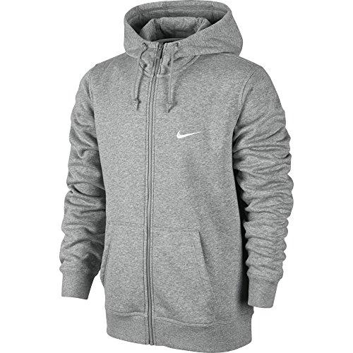 Nike Herren, Kapuzenpullover mit durchgehendem Reißverschluss, Mehrfarbig (Dunkel Heidekraut Grau/weiß), S
