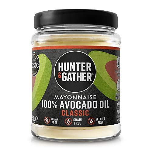 Hunter & Gather Mayonesa de Aceite de Aguacate Puro 250g | Hecho con Yema de Huevo de Gallina Campera Inglesa | Paleo, Keto, Libre de Gluten y Azúcar | Libre de Saborizantes Artificiales