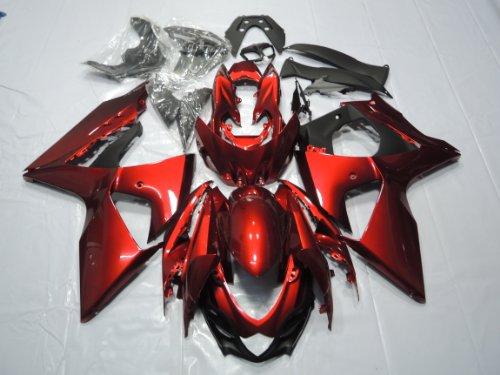 ZXMOTO Motorcycle Bodywork Fairing Kit for 2009 2010 2011 2012 2013 2014 2015 2016 Suzuki GSXR 1000 Fairings Set Red - (Pieces/kit: 30)