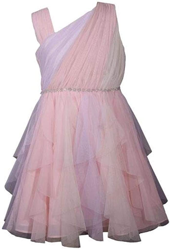 Bonnie Jean Girls Unicorn Magic Rainbow Tutu Ballet Off The Shoulder Dress