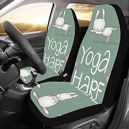 Wen-shop Juego de fundas para auto Cute Kids en diferentes posturas de yogaFit Auto Fundas para asientos de auto Protector
