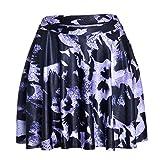 Falda para Mujer,Falda Plisada Ultra Corta De Cintura Alta con Estampado 3D De Animales Pájaros Negros Moda Sexy Primavera Verano Versátil Falda Retro Elástica para Mujeres Fiesta De Niñas Ofici
