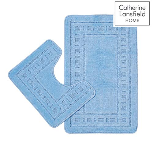 Catherine Lansfield Armoni Bade-Set, Aquamarin, 2-teilig, Microfaser, blau, 50 x 80 cm