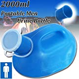 (1 Pack) - Men Urinal Bottle, Essort 2000ml Portable Urine Bottle, Suitable for...
